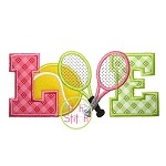Tennis Love Applique