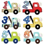 Tow Truck Number Set Applique