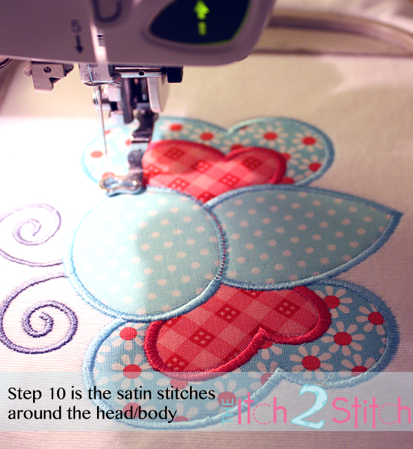 How 2 Stitch a Multiple Fabric Applique Design | The Itch 2 Stitch
