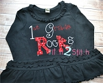 1st Grade Rocks Applique