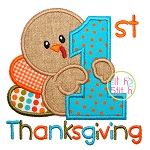First Thanksgiving Applique