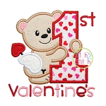 First Valentine's Applique