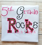 5th Grade Rocks  Applique