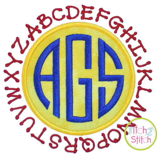 ABC Circle Patch Applique