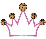 Basketball Crown Applique