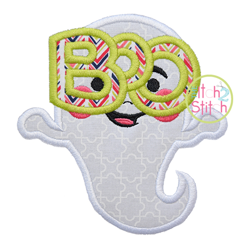 Boo Glasses Ghost Applique