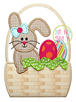 Easter Bunny Basket Girl Applique
