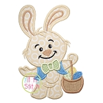 Bunny with Basket Applique