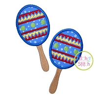 Cinco de Mayo Maracas Applique