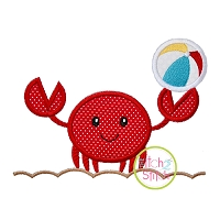 Crab Beach Ball Sand Applique