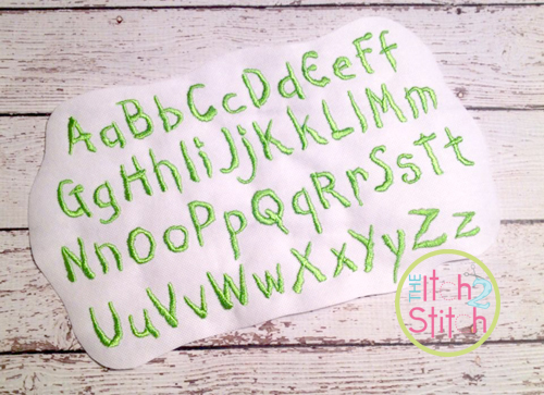 creepy halloween embroidery font the itch 2 stitch - Halloween Writing Font