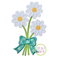 Daisy Bouquet Applique