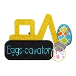 EGGScavator Easter Backhoe Applique