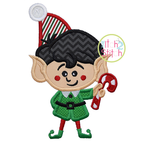 Elf Twin Boy Applique