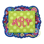 Fancy Frame Double Applique Frame