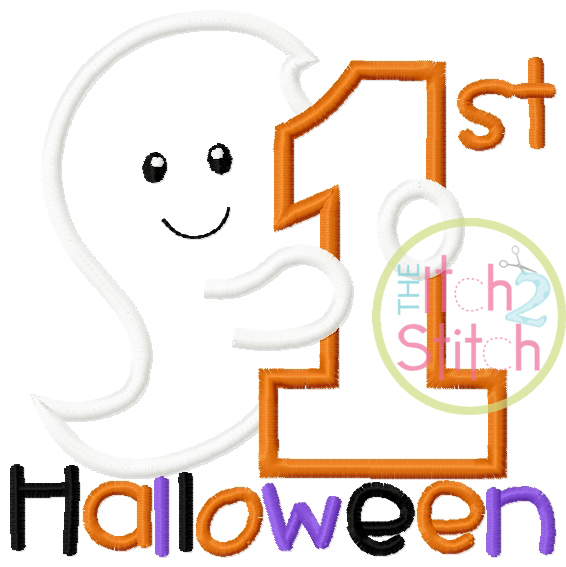 First Halloween Ghost Applique | The Itch 2 Stitch