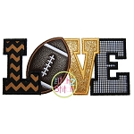 Football Love 2 Applique