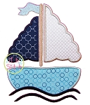 Girly Sailboat Applique