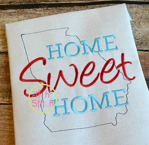 Home Sweet Home Georgia Embroidery on home trim design, home kitchen design, home gardening design, home size, home button design, home fashion design, home wallpaper design, home garden design, home print design, home quilt design, home art design, home paint design, home pillow design, home inspiration design, home furniture design, home cross stitch design, home drawing design, home sewing, home painting design, home decorating design,