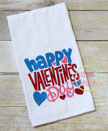 Happy Valentine S Day Satin Stitch Embroidery The Itch 2 Stitch