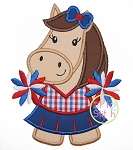Horse Cheer Applique