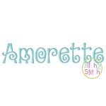 Amorette Embroidery Font
