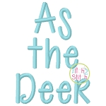 As The Deer Embroidery Font
