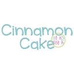 Cinnamon Cake Embroidery Font
