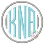 Clubhouse Monogram Embroidery Font