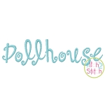 Dollhouse Embroidery Font