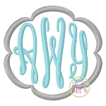 Fancy Oval Monogram Set