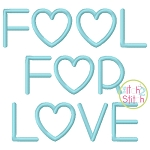 Fool For Love Embroidery Font
