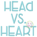 Head vs Heart Embroidery Font