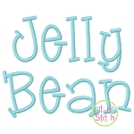 Jelly Bean Embroidery Font