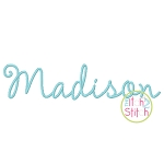 Madison Embroidery Font