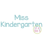 Miss Kindergarten Embroidery Font