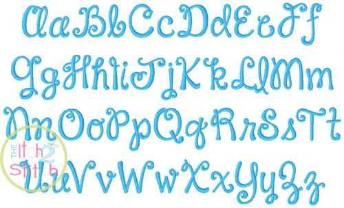 Janda Happy Day Pigtails Embroidery Font