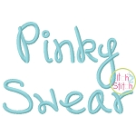Pinky Swear Embroidery Font