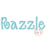 Razzle Embroidery Font