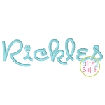 Rickles Embroidery Font