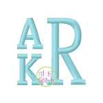 Stacked Serif Embroidery Monogram Font