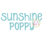Sunshine Poppy Embroidery Font