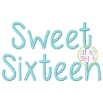 Sweet Sixteen Embroidery Font
