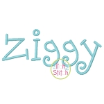 Ziggy Embroidery Font