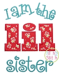 I am the lil sister Applique