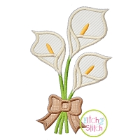 Lily Bouquet Applique