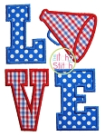 Megaphone  LOVE Applique