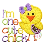 One Cute Chick Applique