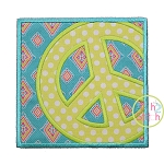 Peace Sign Box Applique