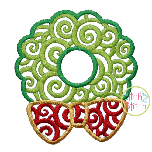Scroll Wreath Embroidery